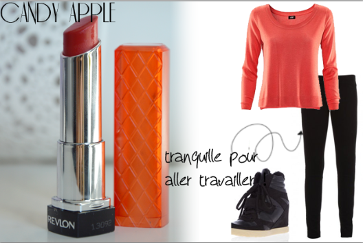 ALITTLEB_BLOG_BEAUTE_3ROUGES_3LOOKS_REVLON_CANDY_APPLE