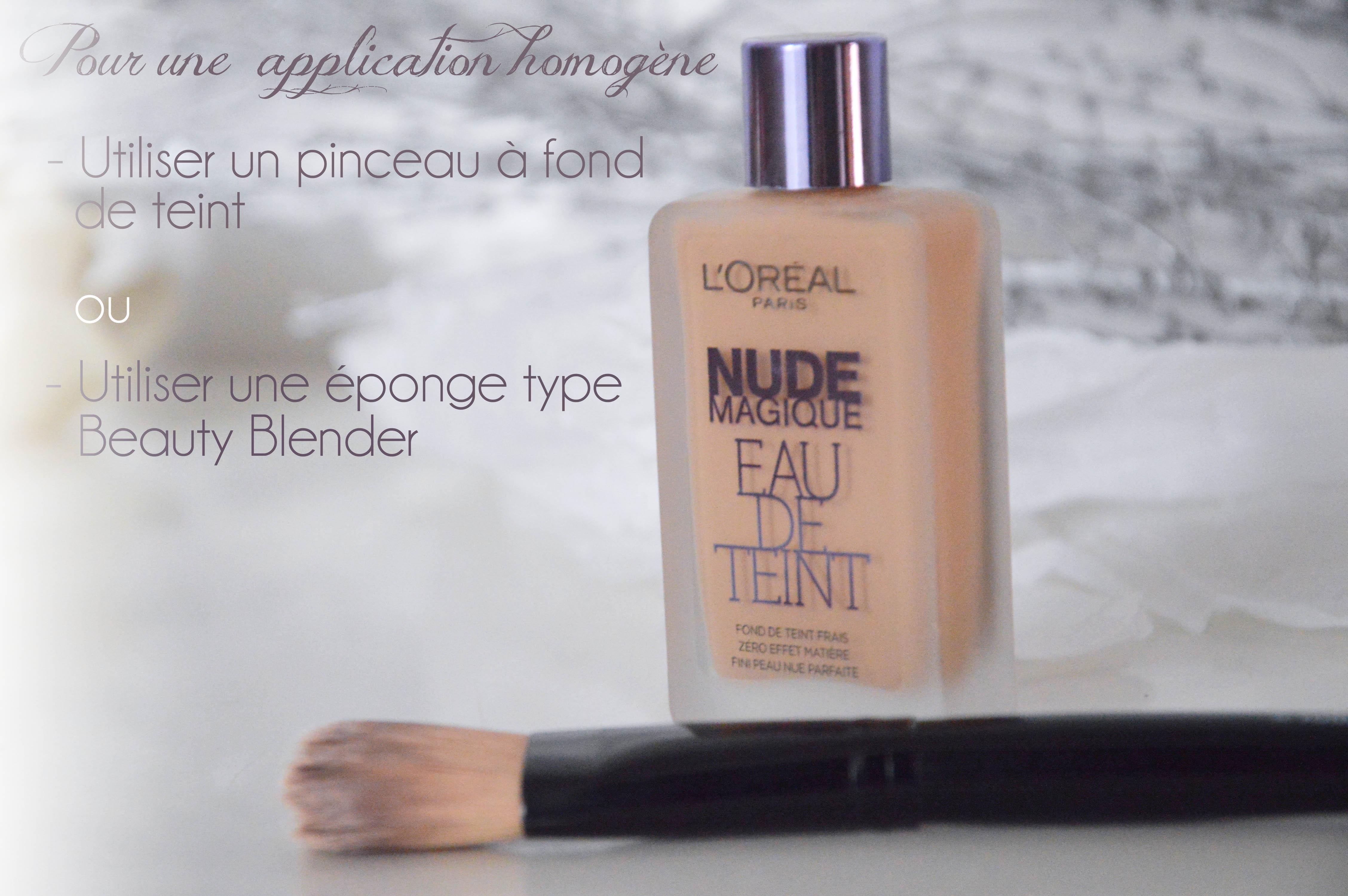 ALITTLEB_BLOG_BEAUTE_LOREAL_EAU_DE_TEINT_NUDE_MAGIQUE_application