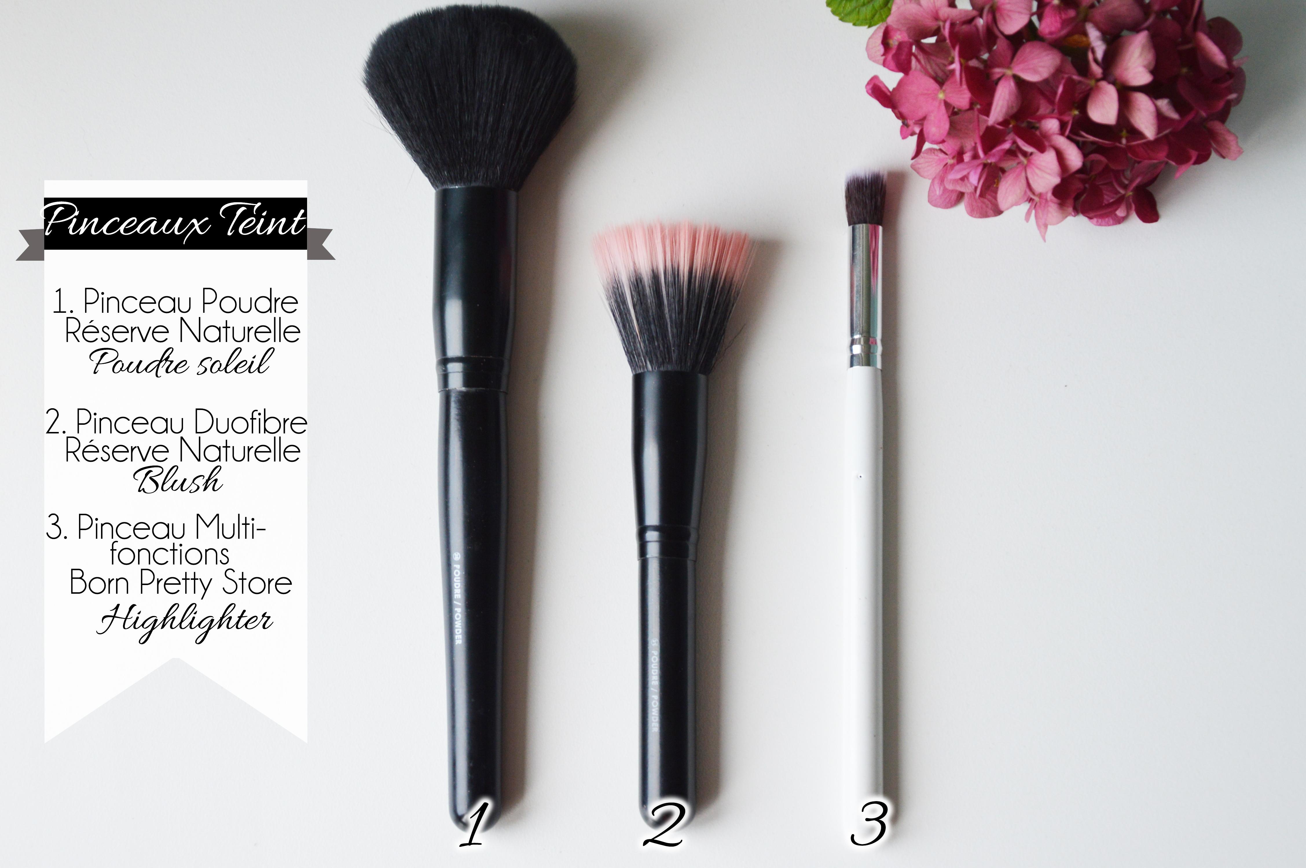 ALITTLEB-Blog-beauté-routine-teint-estivale-2014-Lumière-et-peau-halée-sephora-erborian-kiko-sleek-RESERVE_NATURELLE_BORN_PRETTY_STORE_PINCEAUX