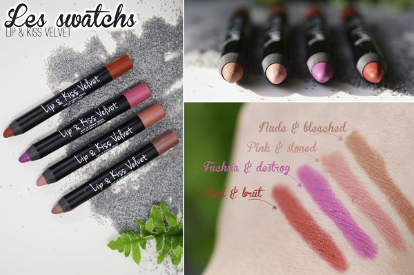 ALITTLEB_BLOG_BEAUTE_LIP_AND_KISS_VELVET_LE_JUMBO_CREME_POUR_DES_KISS_KISS_VERSION_MAT-SWATCH_PINK_AND_STONED_FUCHSIA_AND_DESTROY_RED_AND_BRUT_NUDE_AND_BLEACHED1