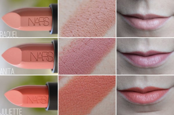 ALITTLEB_BLOG_BEAUTE_AUDACIOUS_LIPSTICK_NARS_COMPLETEMENT_IN_LOVE_ZOOM_COMPARATIF_SWATCHS_JULIETTE_ANITA_RAQUEL