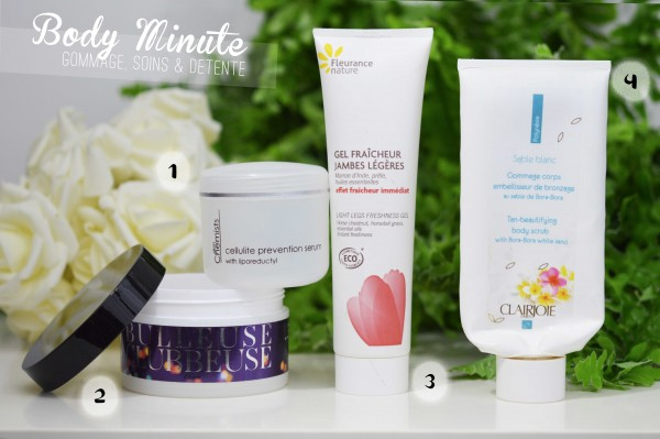 ALITTLEB_BLOG_BEAUTE_PRODUITS_TERMINES_5_EMPTIES_ON_SE_RETROUVE_OU_ON_S_OUBLIE_BODY_MINUTE_ETAM_BEAUTY_SORBET_BULLEUSE_CLUBEUSE_SKIN_CHIMIST_CELLULITE_PREVENTION_SERUM_CLAIRJOIE_GOMMAGE_FLEURANCE_NATURE