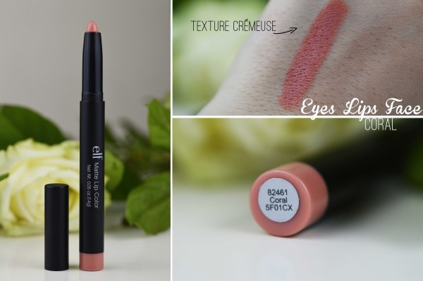 ALITTLEB_BLOG_BEAUTE_ELF_EYES_LIPS_FACE_MATTE_LIP_COLOR_MON_AVIS_MITIGE_EYES_LIPS_FACE_CORAL_SWATCH
