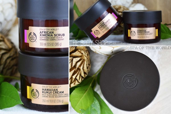 ALITTLEB_BLOG_BEAUTE_SPA_OF_THE_WORLD_LE_RITUEL_DETENTE_AVEC_THE_BODY_SHOP_CREME_HAVWAIIN_KUKUI_GOMMAGE_AFRICAN_XIMENIA_PACKAGINGS