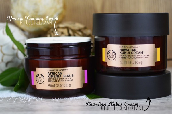 ALITTLEB_BLOG_BEAUTE_SPA_OF_THE_WORLD_LE_RITUEL_DETENTE_AVEC_THE_BODY_SHOP_CREME_HAWAIIAN_KUKUI_GOMMAGE_AFRICAN_XIMENIA_RITUELS_RELAXANT_RECONFORTANT