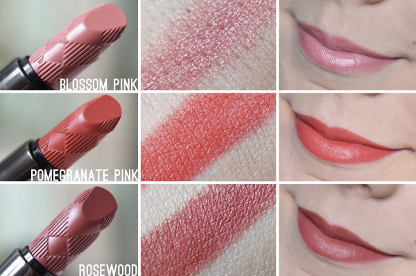 ALITTLEB_BLOG_BEAUTE_LYON_BUERBERRY_KISSES_ET_LIP_VELVET_ON_ADOPTE_LES_BURBERRY_LIPSTICKS_ROSEWOOD_POMEGRANATE_PINK_BLOSSOM_PINK_SWATCHS