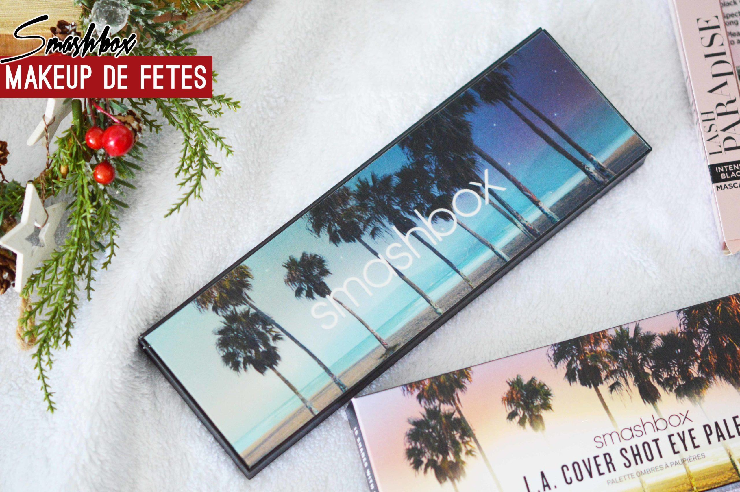 Focus sur le packaging de la palette L.A Cover Shot de Smashbox