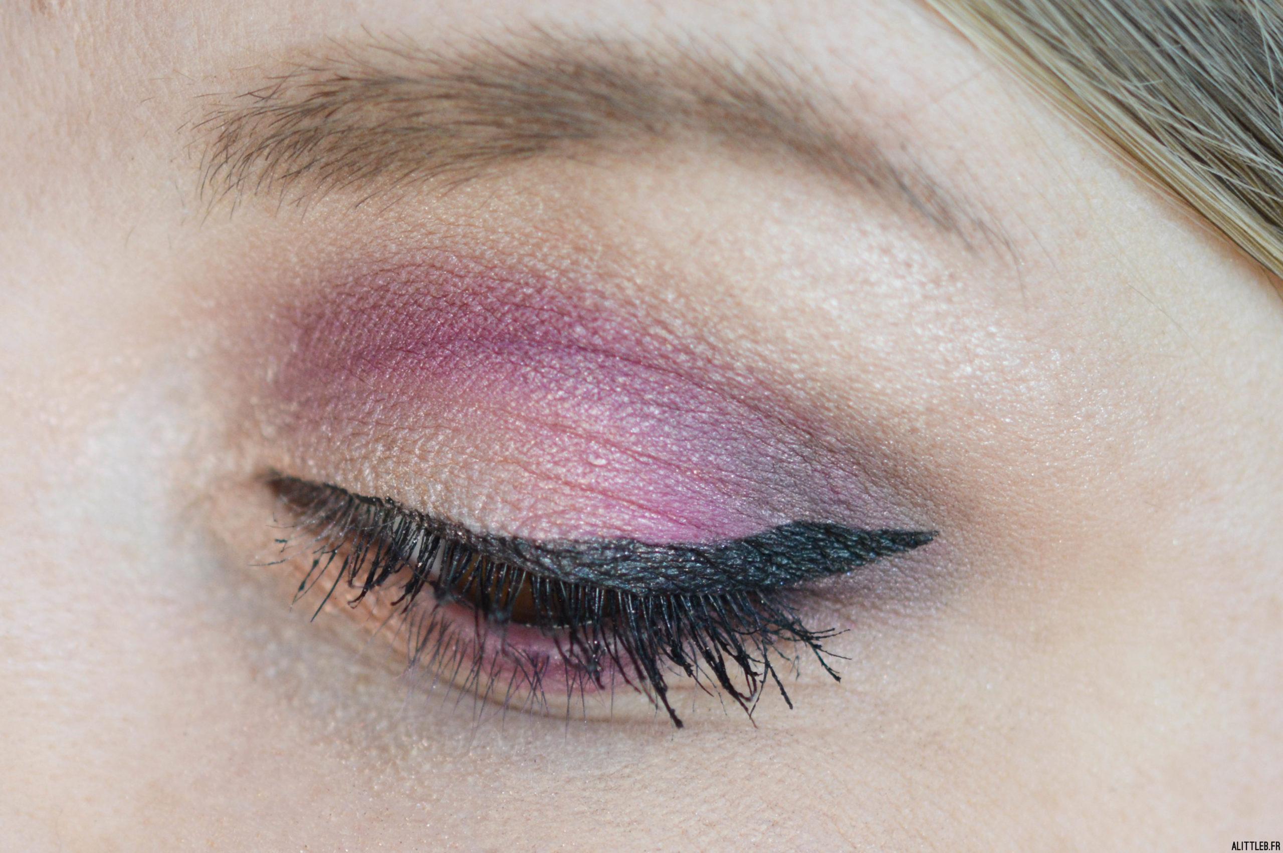 Zoom sur le maquillage de fêtes réalisé avec la palette L.A Cover Shot de Smashbox