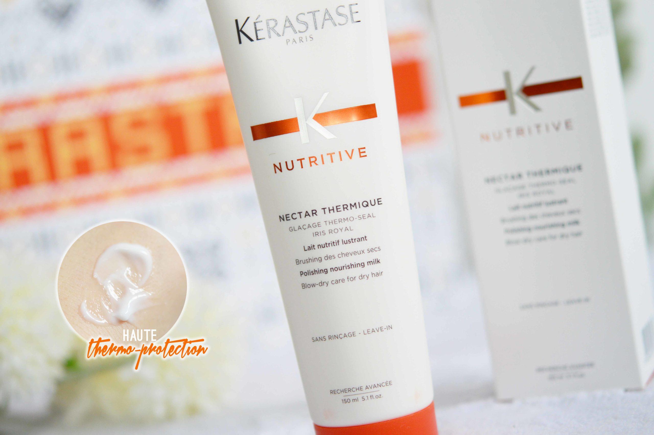 Le nectar thermique va aider à protéger de la chaleur et nourrir les cheveux