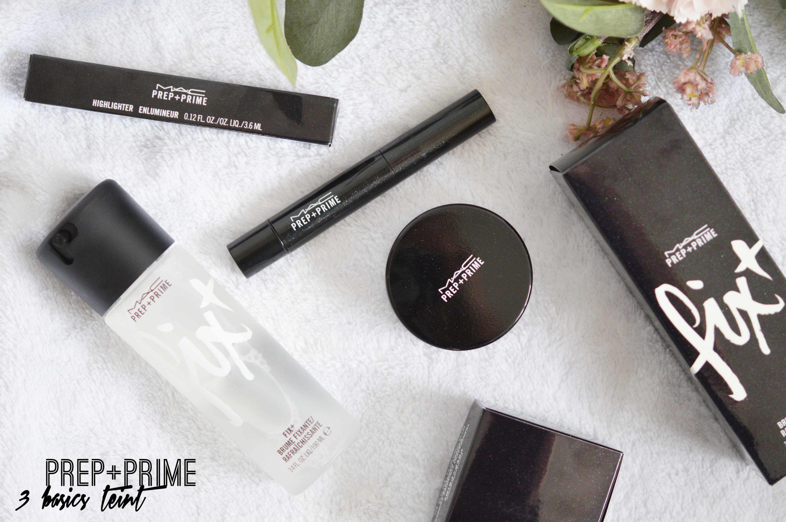 3 basics mac cosmetics prams lesquels le fix+, l'enlumineur stylo et la poudre translucide