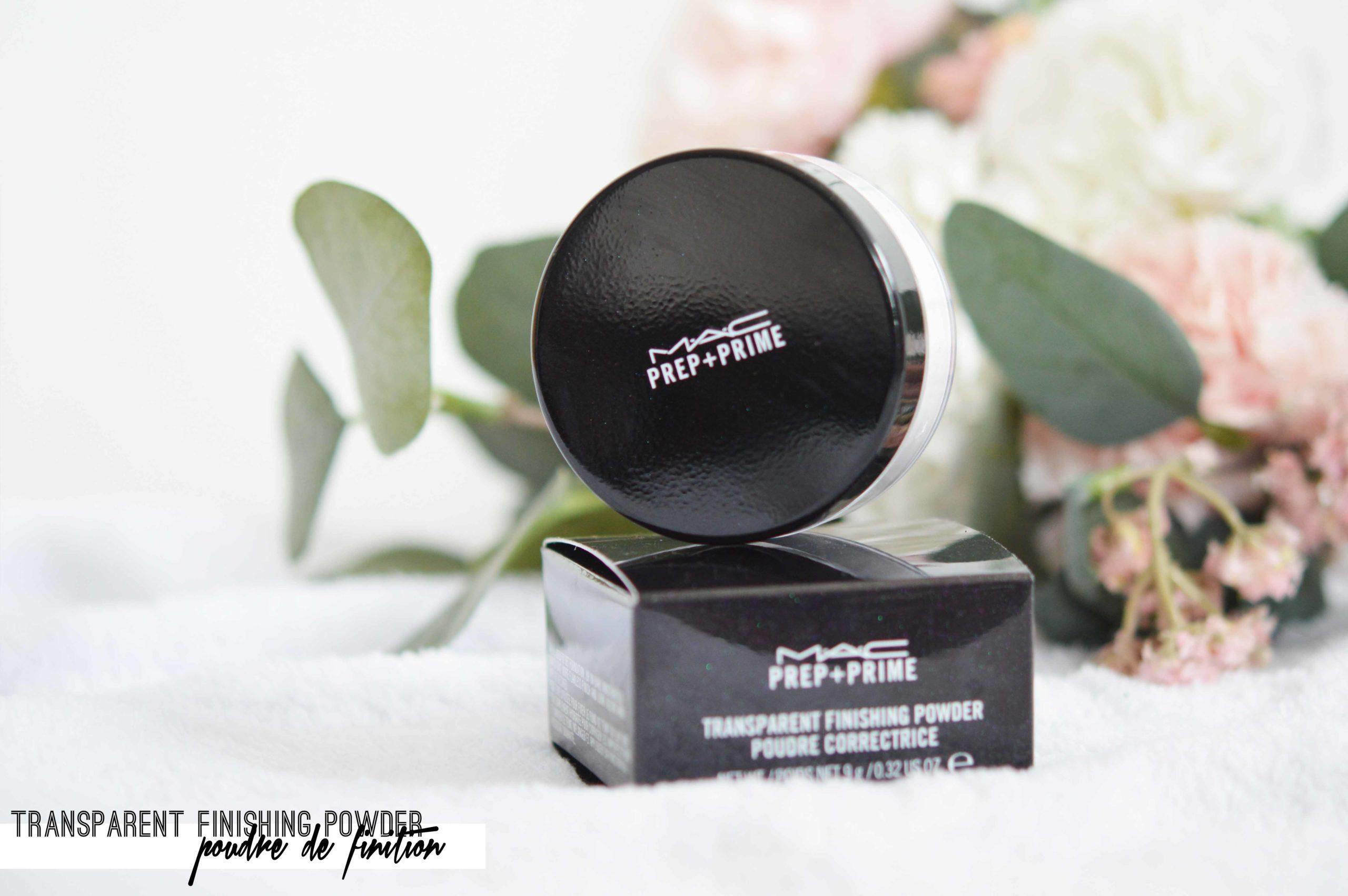transparent finishing powder la poudre libre de finition de mac cosmetics