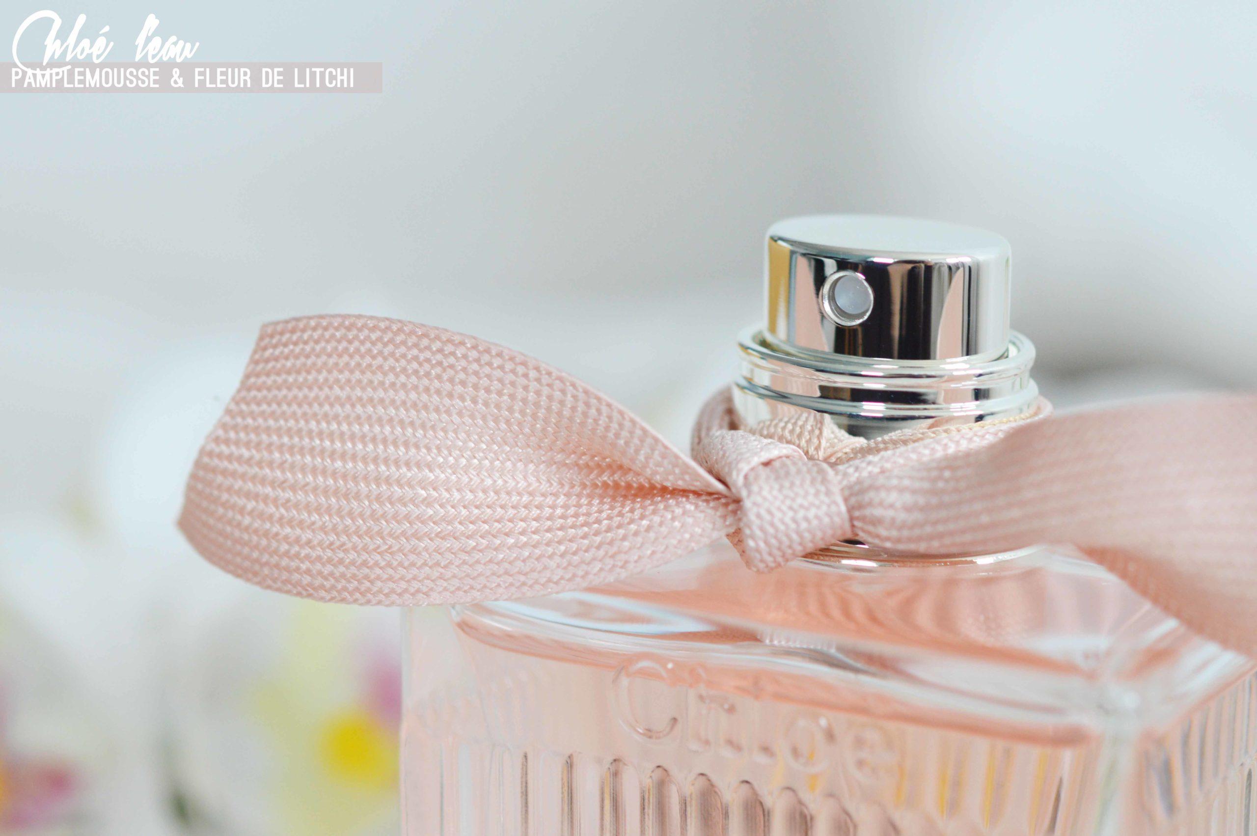 L'eau de chloé des notes de pamplemousse et de fleur de litchi puis de rose de damas et de magnolia