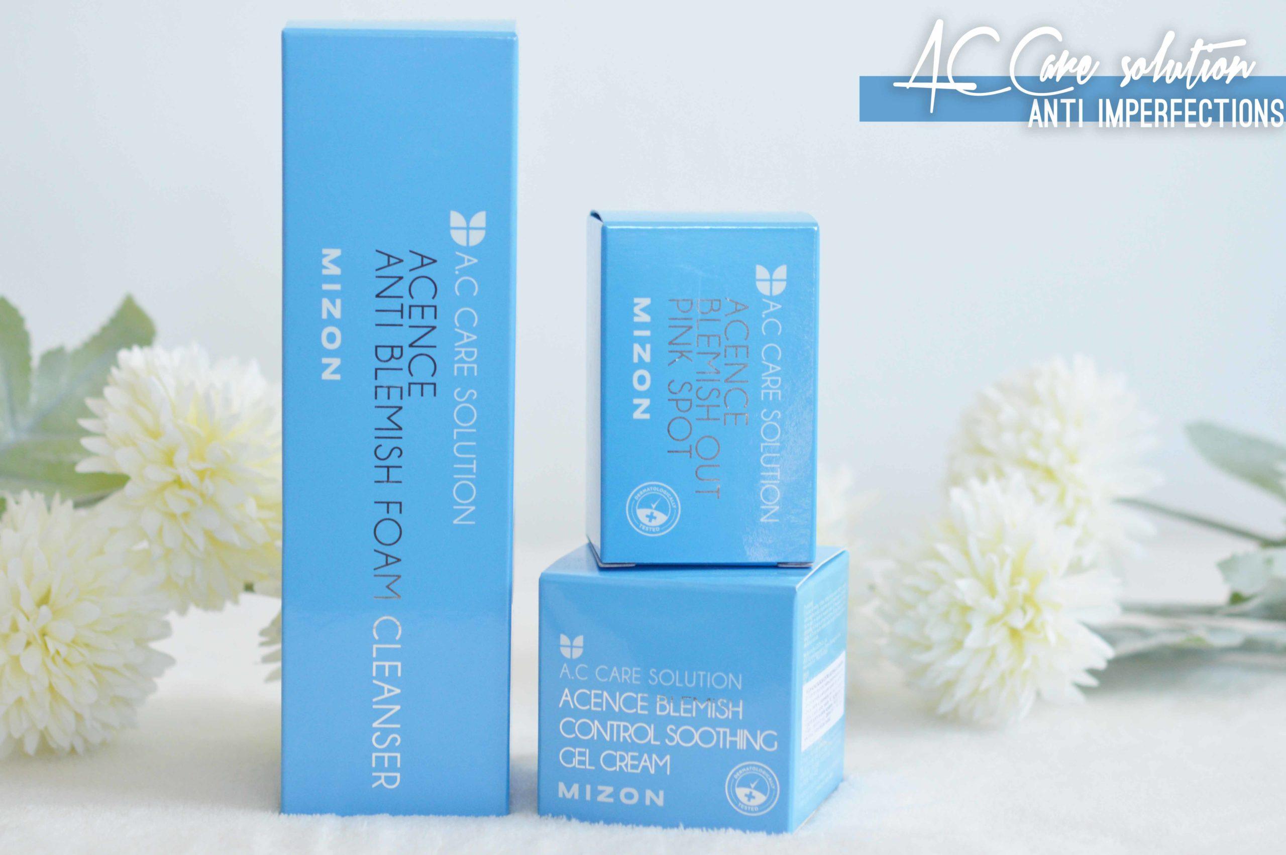 A. C. Care Solution la gamme au packaging bleu ciel