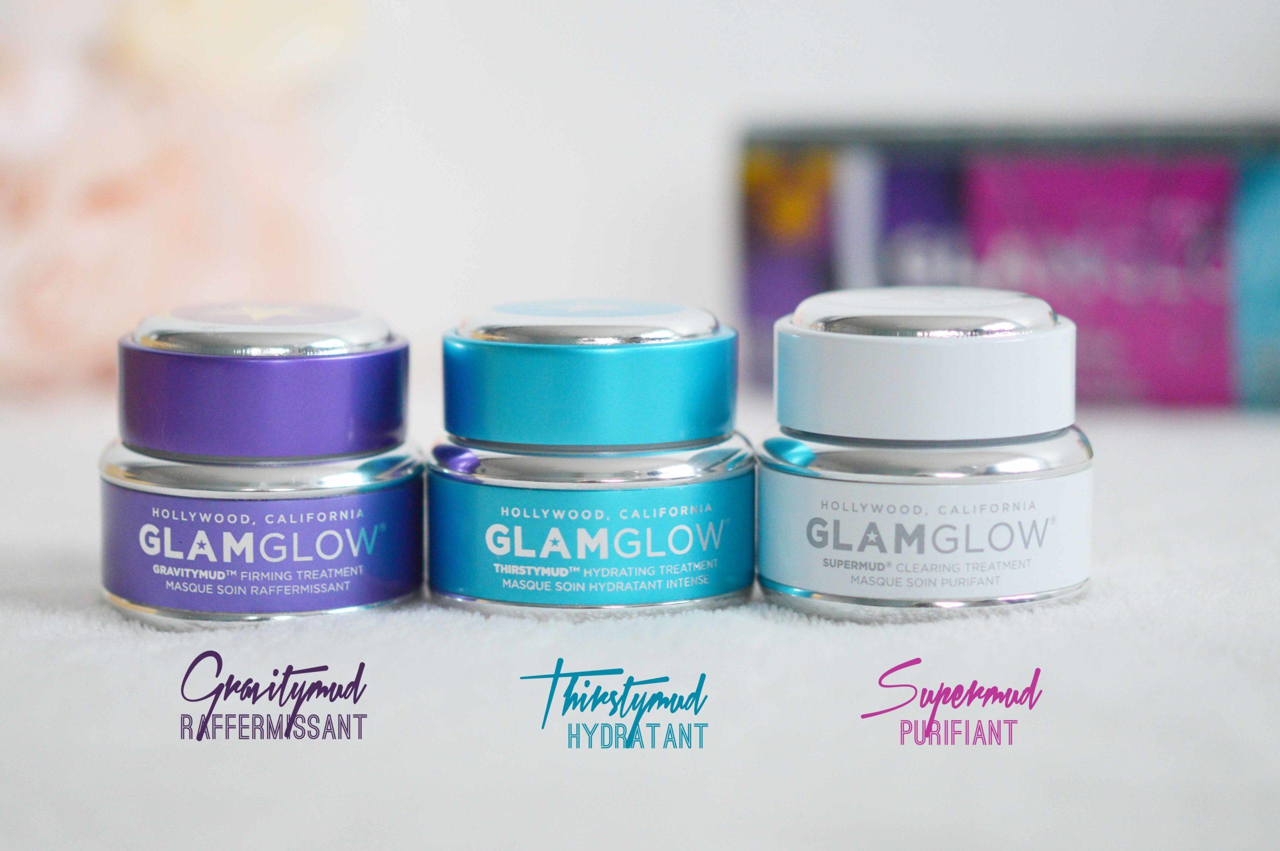 3 masques incontournables chez glamglow au format 15g