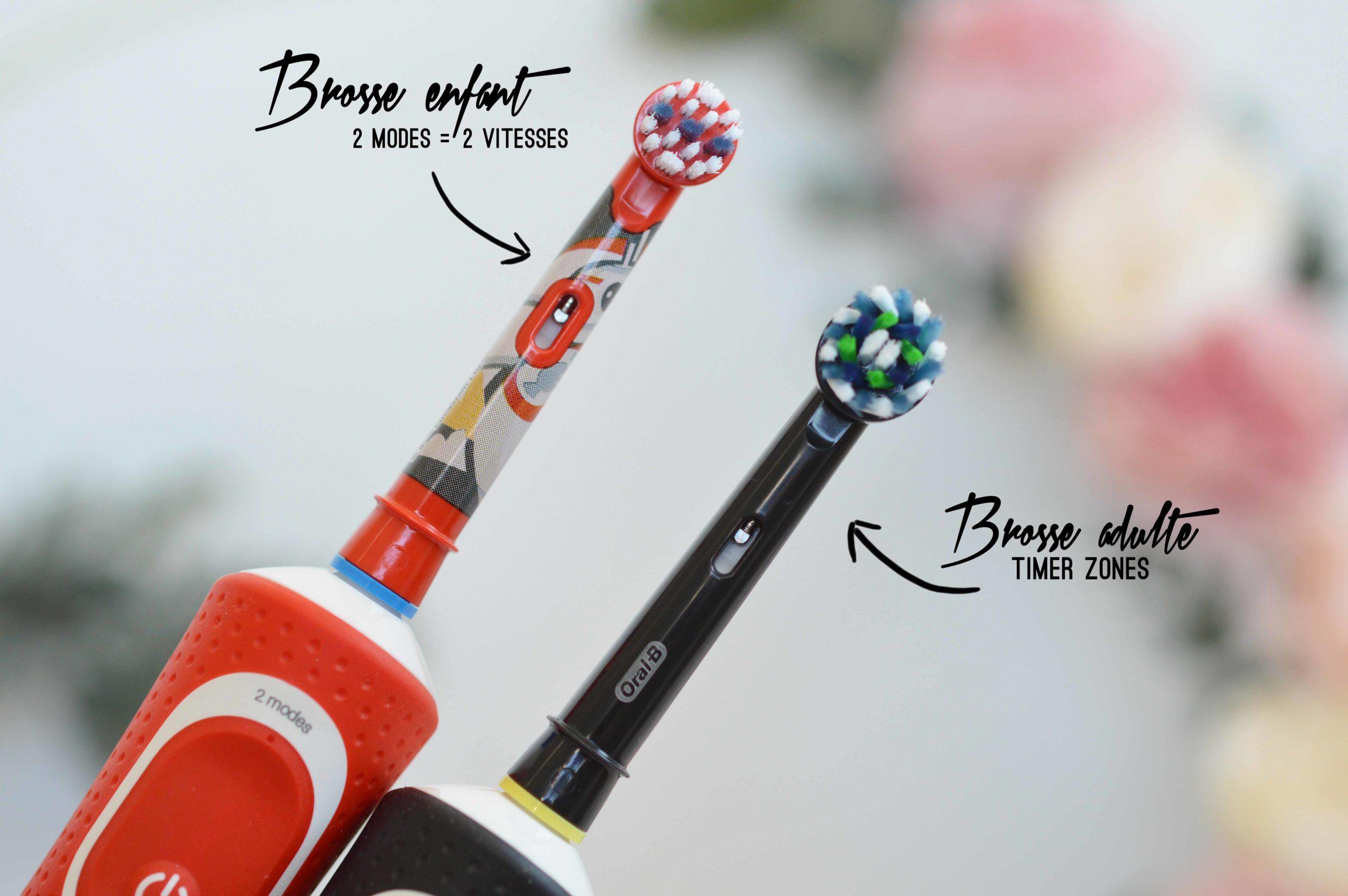deux brosses différentes et deux modes différent pour ces brosses à dents électriques