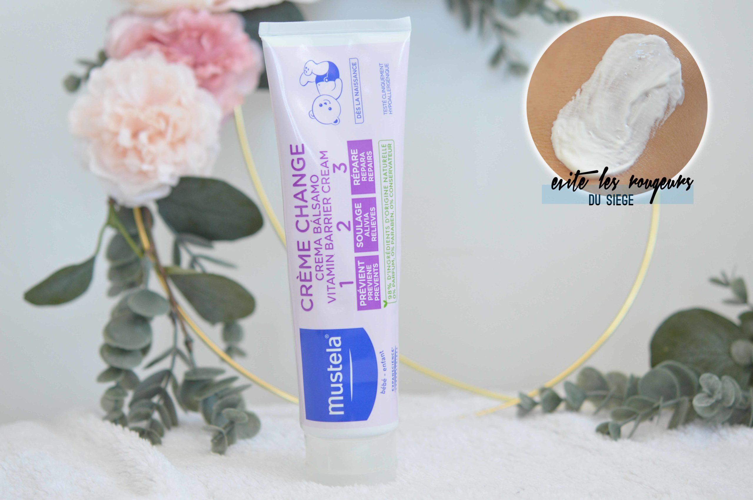la crème pour le change Mustela ultra efficace contre les rougeurs du siège