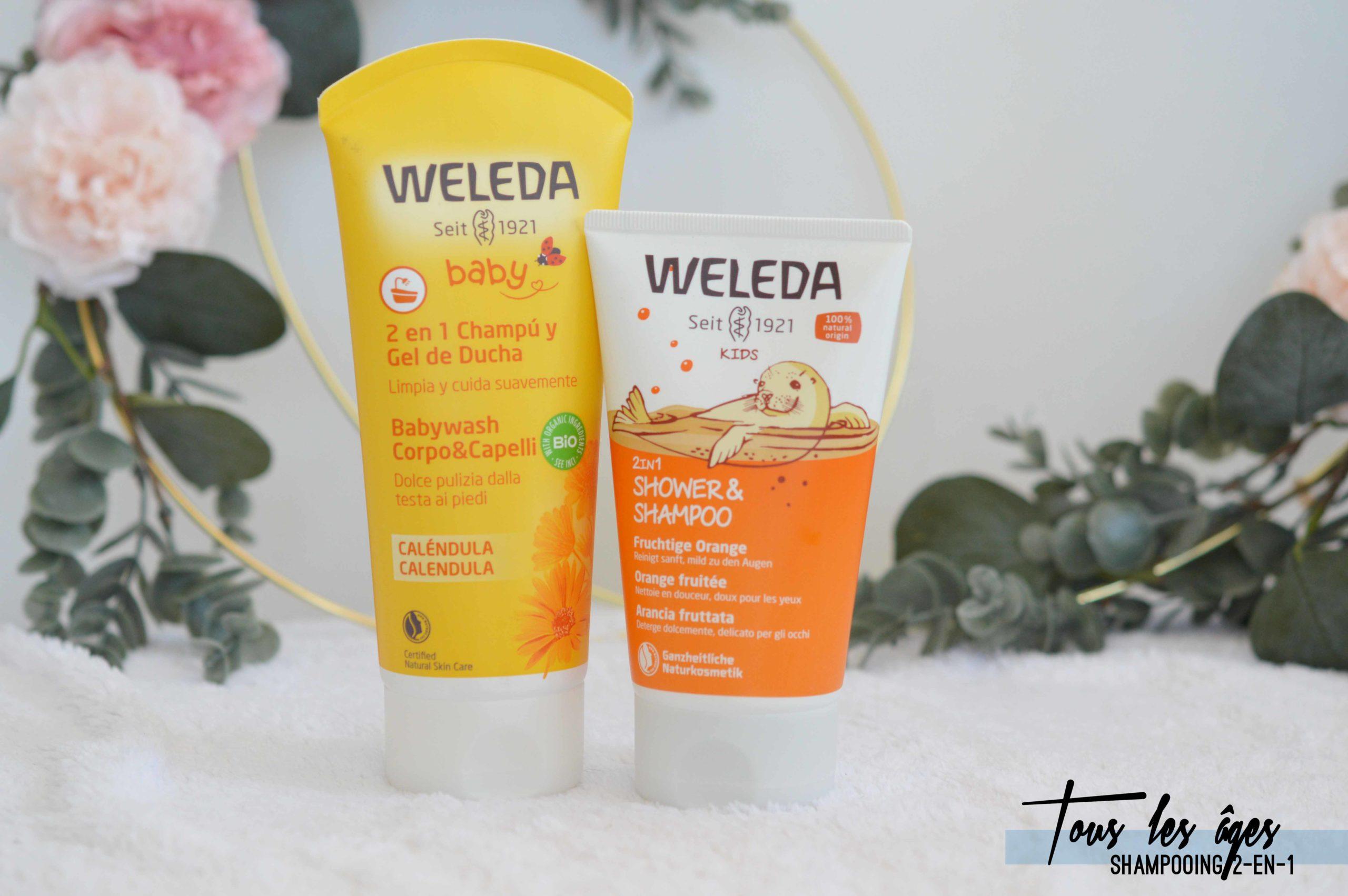 Les gels douches Weleda 2-en-1 font aussi offices de shampooing